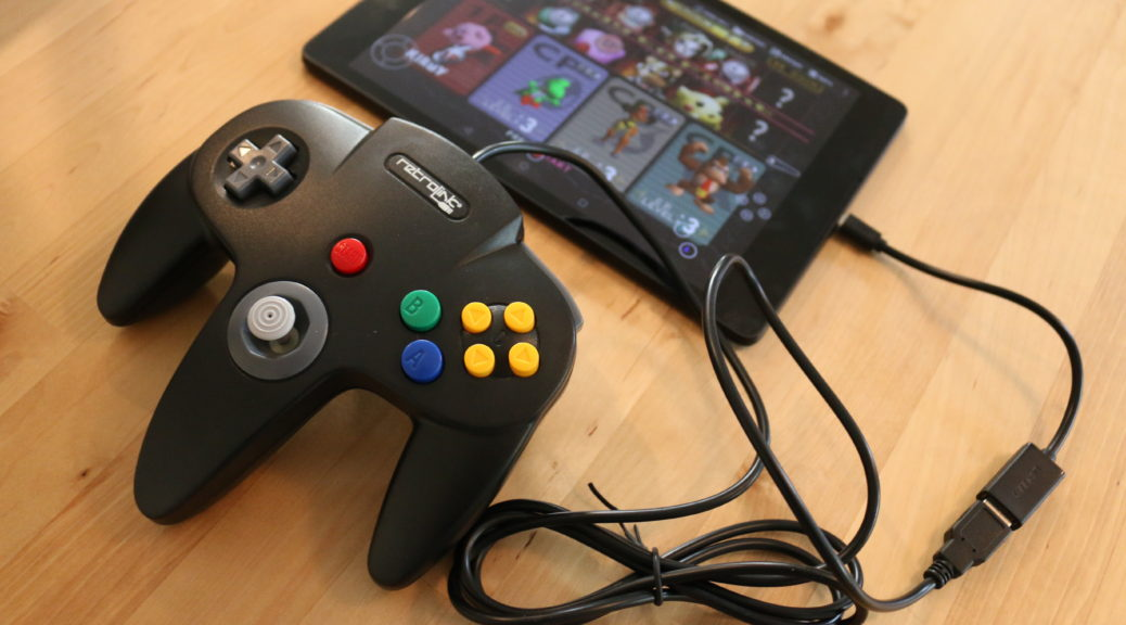 N64 running on a tablet